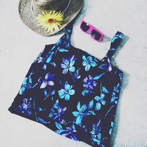 Le Cove Blue Floral Tankini 14